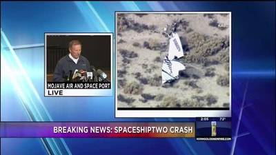 News video: SpaceShipTwo crash News Conference